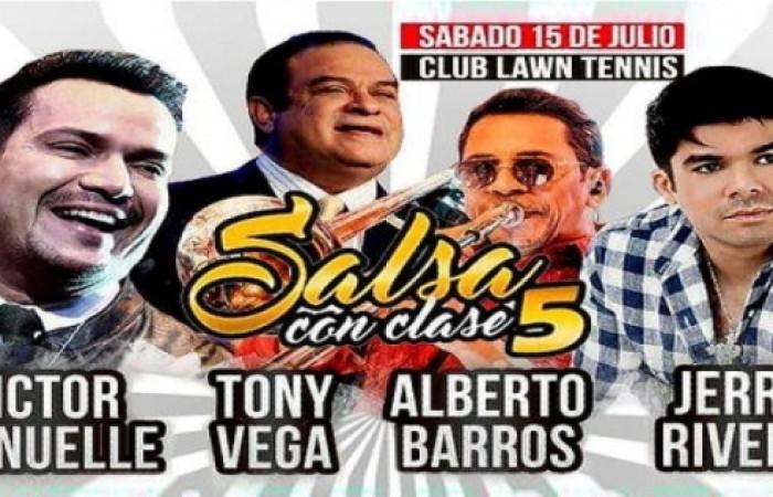 """Festival """"Salsa con Clase 5"""" con Víctor Manuelle, Jerry Rivera, Tony Vega, Alberto Barros y Más"""