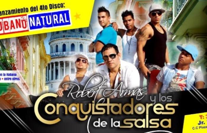 """Los Conquistadores de la Salsa harán el Lanzamiento de su 4to. Disco """"Cubano Natural"""""""