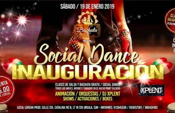 El Primer Club de Salsa y Bachata en SJM a inaugurarse el Sábado 19 de Enero